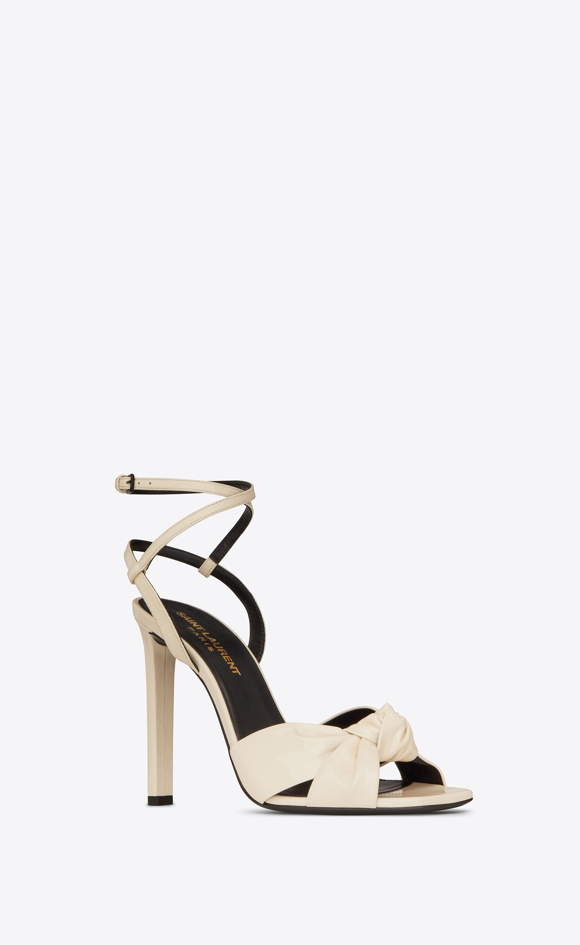 4edfe44233f944 Saint Laurent - Amy sandal in patent porcelain leather ( 895 ...