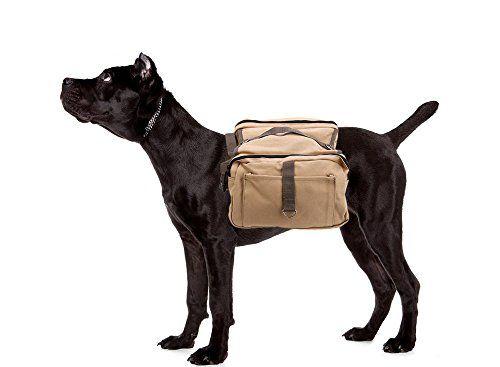 Novadeal Adjustable Canvas Pet Dog Backpack Harness Saddle Bag For