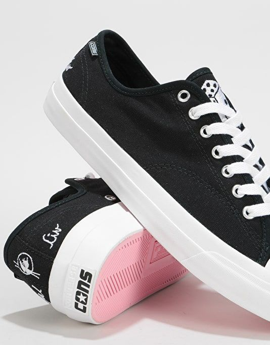 419049d19b4 Converse x Illegal Civ Jack Purcell Pro Ox Skate Shoes - Black Pink ...