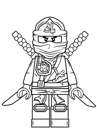 Ninjago Green Ninja Lloyd In Kimono Costume Coloring Page Print