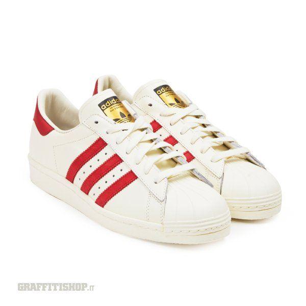 adidas bianche e rosse superstar