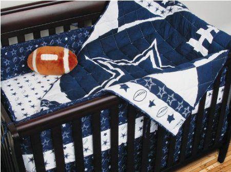 Amazon Com Nfl Dallas Cowboys 4pc Football Crib Bedding