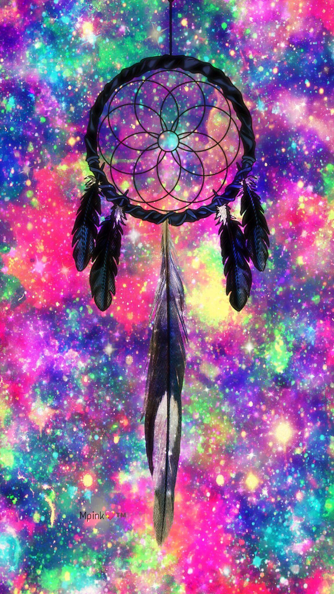 Rainbow Dreamcatcher Galaxy Wallpaper #androidwallpaper # ...