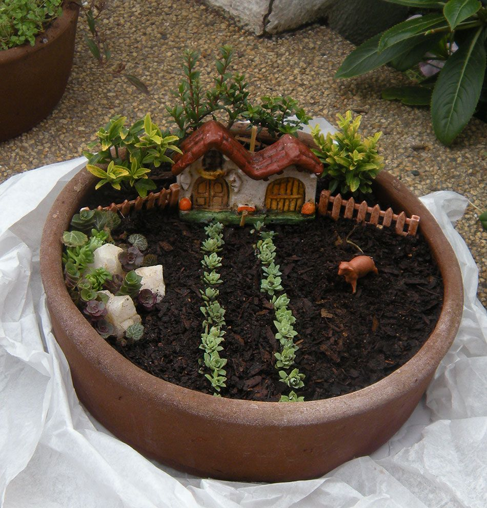 como hacer jardines en miniaturas buscar con google