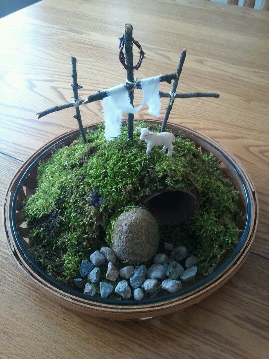 Behold the Lamb of God...Easter garden | CENTERPIECES | Pinterest ...