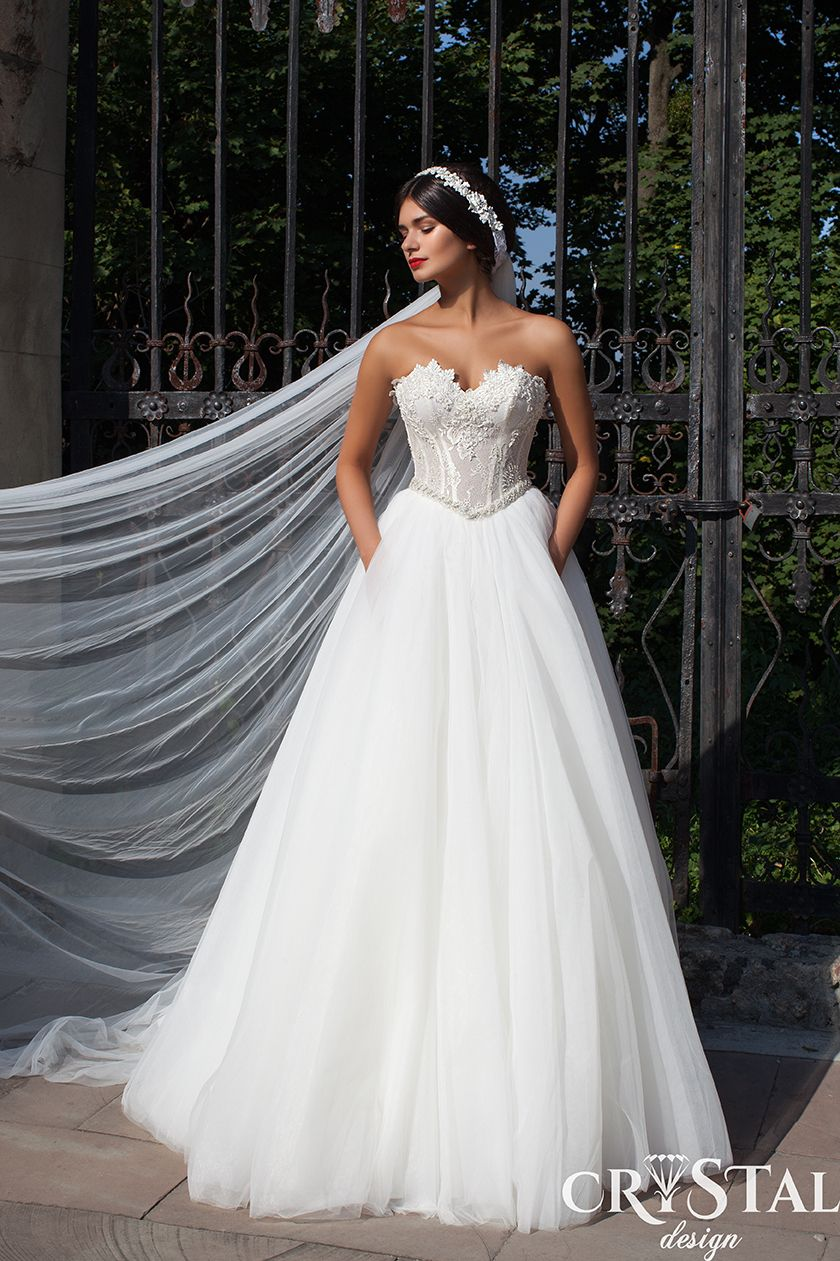 Fluffy wedding dresses  Fashion Style Mag   Crystal Design Bridal   wndng  Pinterest