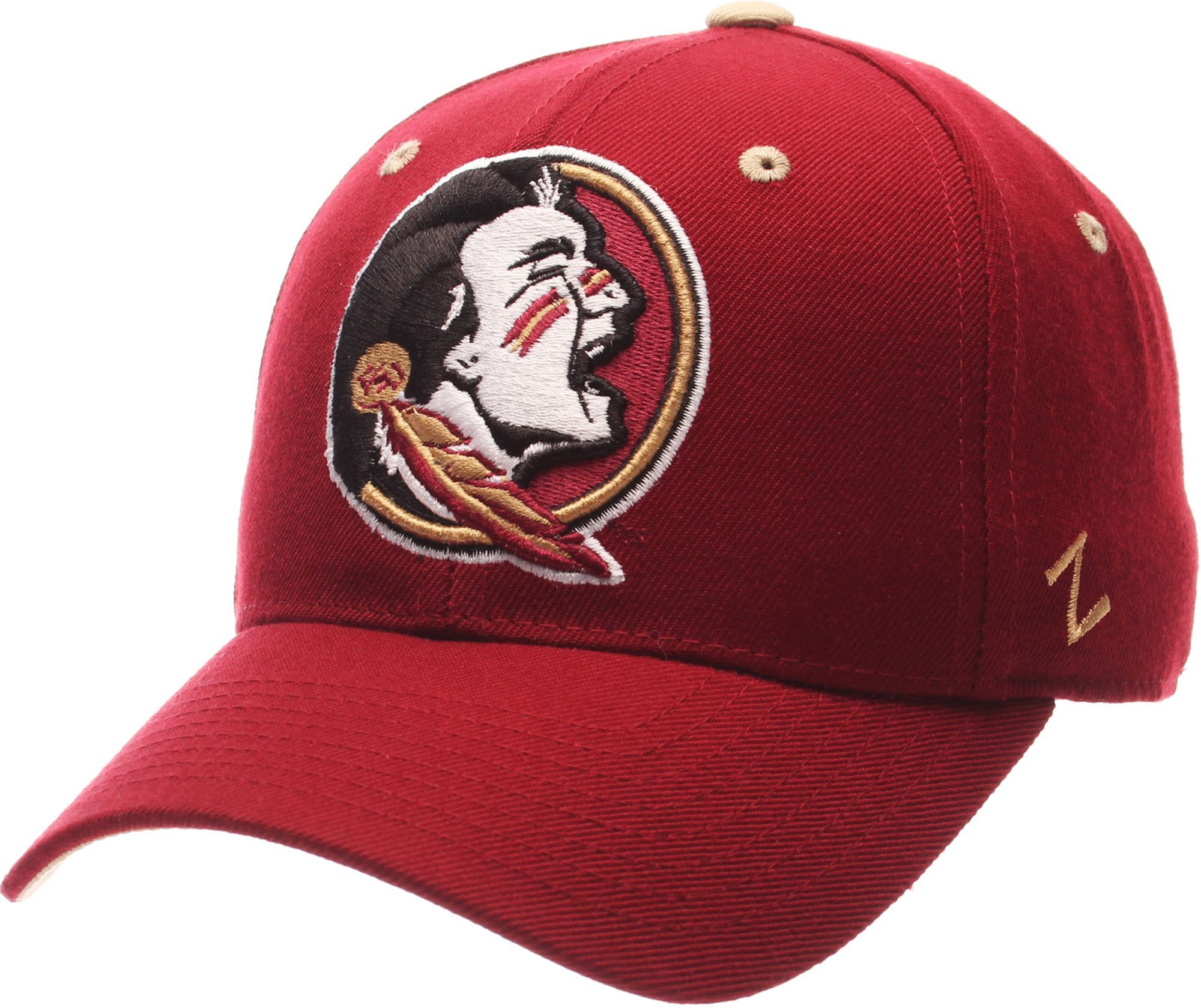 765d0dffc34715 Zephyr Men's Florida State Seminoles Garnet DH Fitted Hat, Size: 7 3/8,  Multi