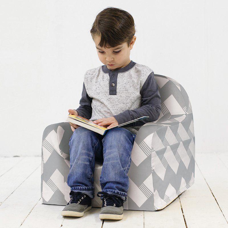 Peachy Pkolino Little Reader Chair Zigzag Gray Pkfflrgz Download Free Architecture Designs Sospemadebymaigaardcom