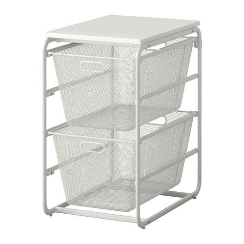Ikea Algot Frame 2 Mesh Baskets Top Shelf