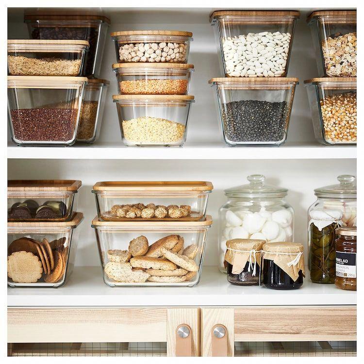 IKEA 365+ Food container - square, glass - IKEA #kitchenorganization