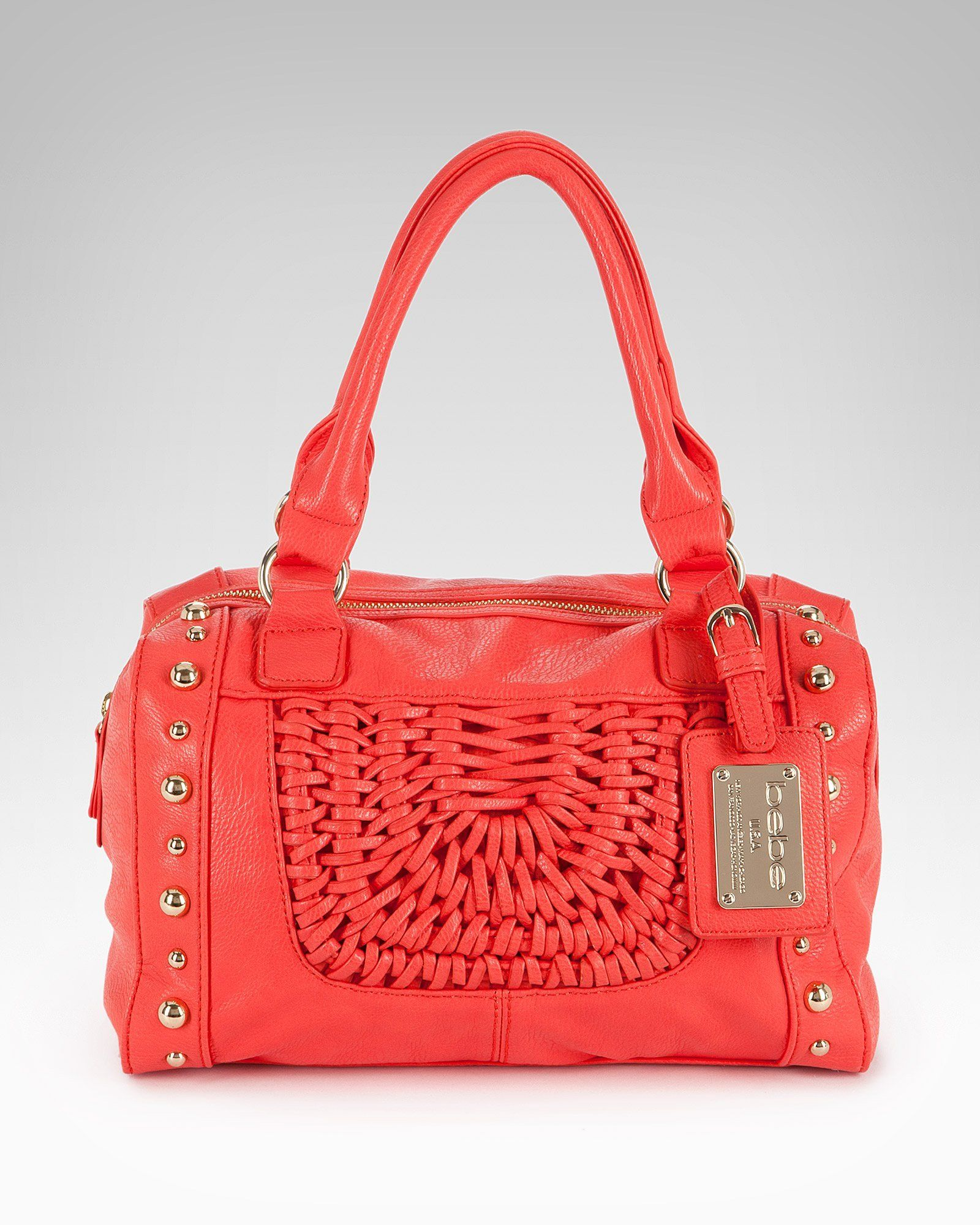 Just got this woven coral handbag from Bebe and I love it!   Fashion ... 7a2cf585a6