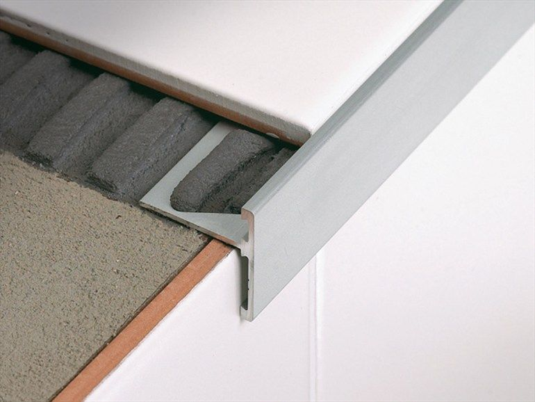 Linear Metal Stair Nosing Profile Stairtec Sr Stairtec Line By