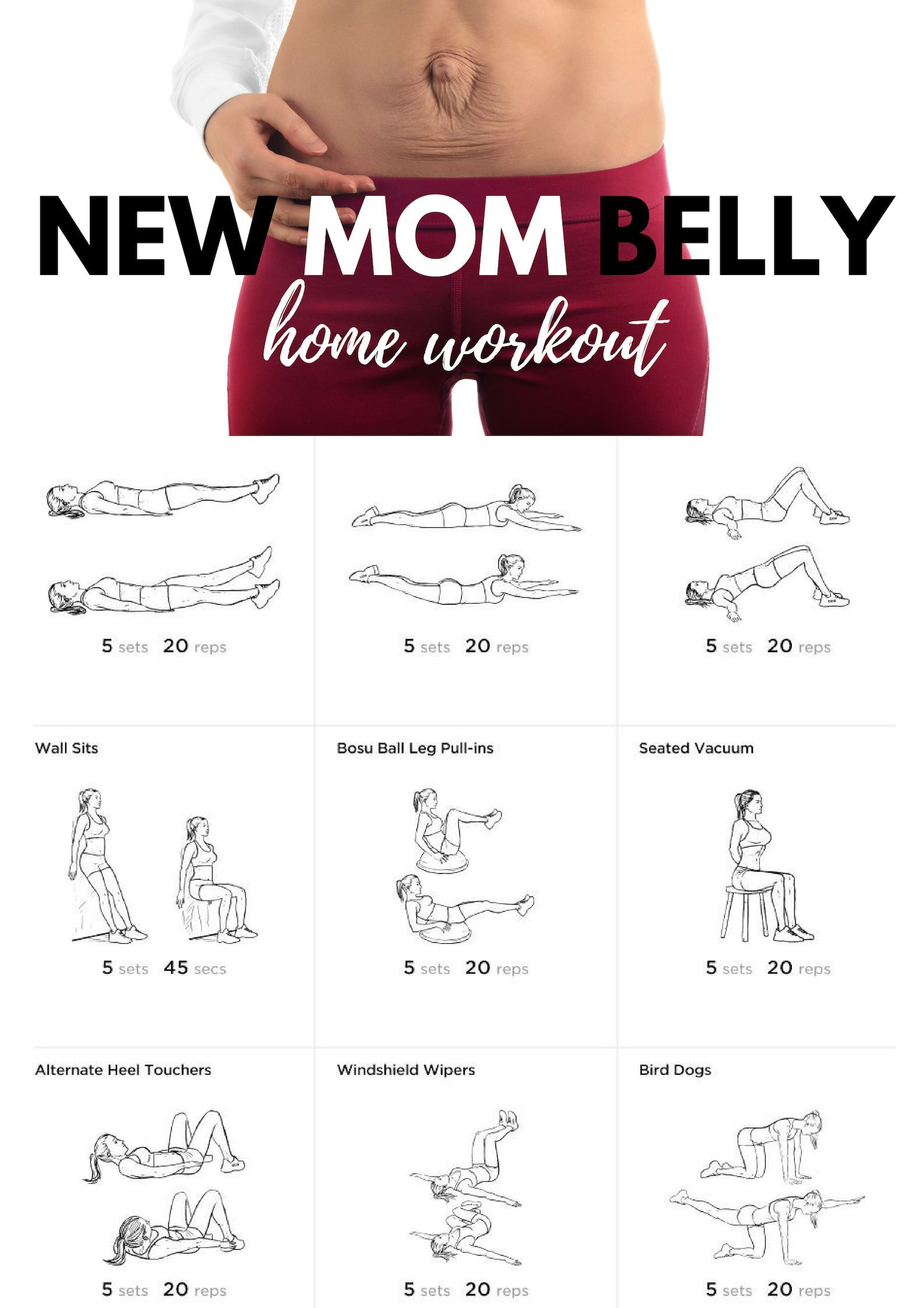 New mom belly home workout noequipmentworkout