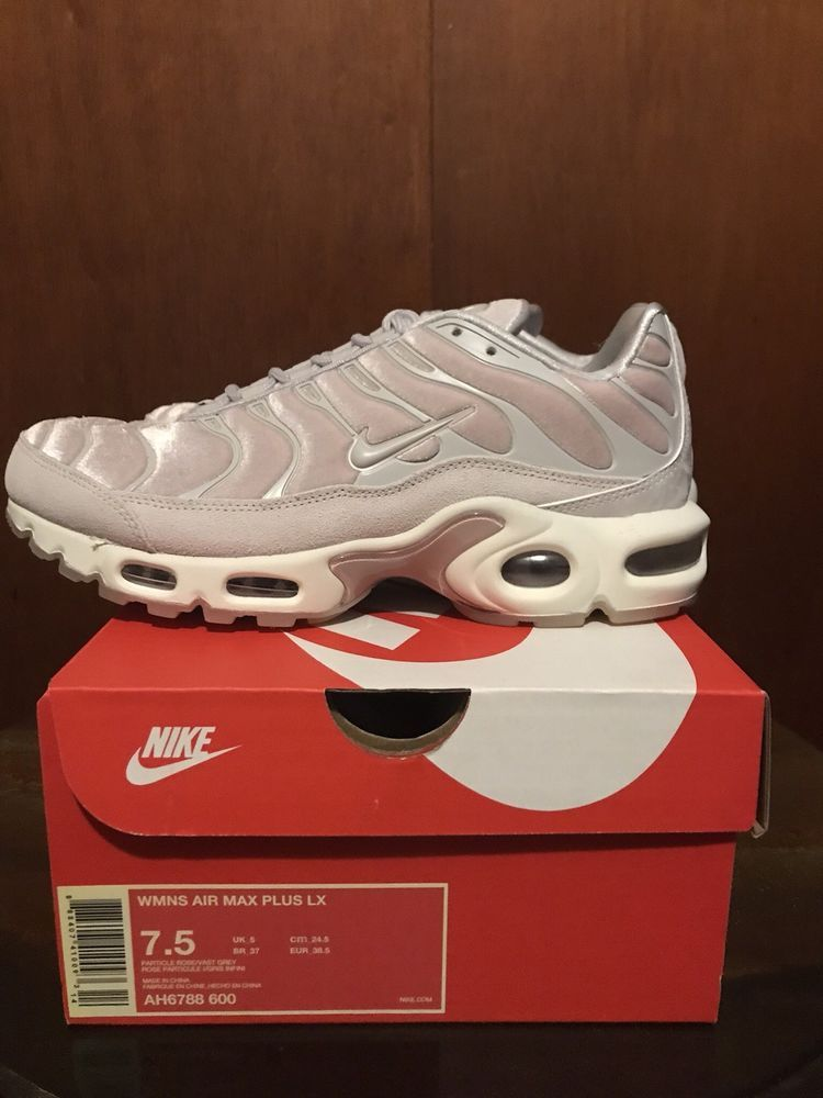 newest f4f29 fd5ea NIKE AIR MAX PLUS LX TUNED 1 SUEDE VELVET PARTICLE ROSE PINK AH6788-600
