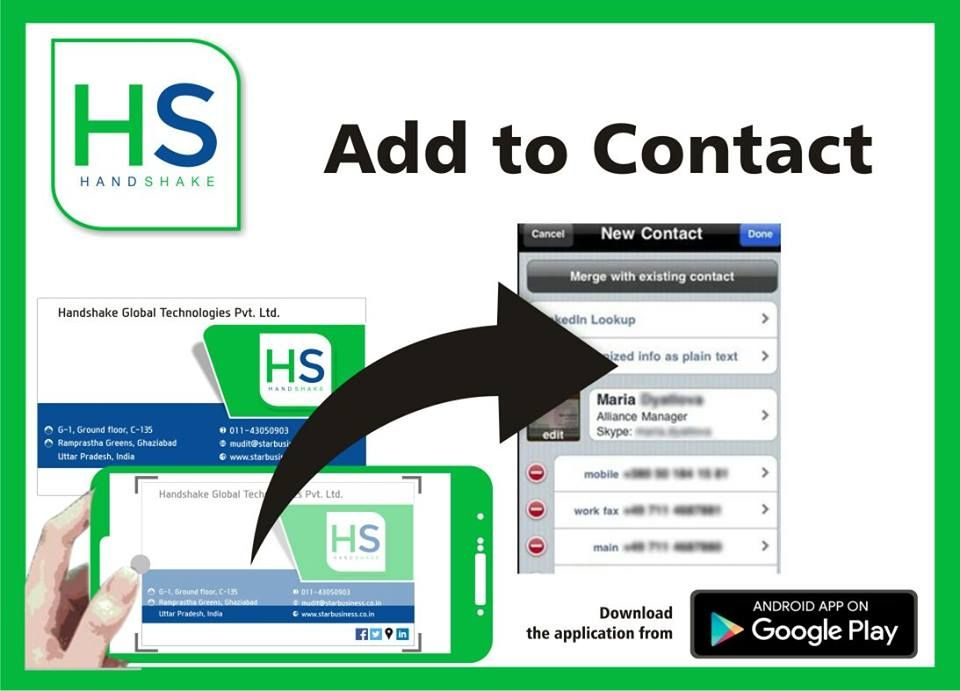 Use Handshake to Prepare and Share Digital Business Cards in just ...