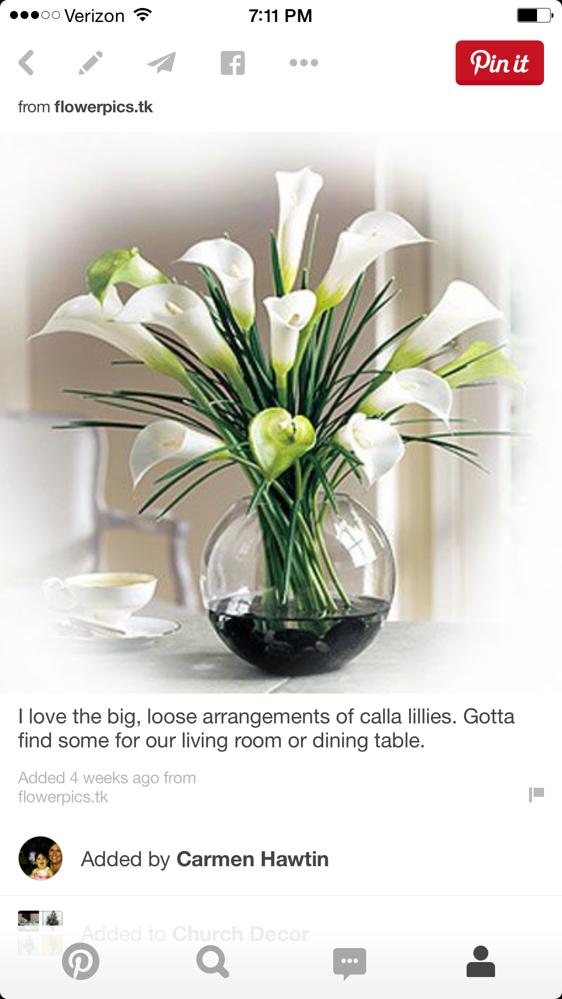 Pin by emily day on church easter pinterest floral arrangement white wedding flowers names flower arrangement ideas calla lilies with pebbles pretty tulips izmirmasajfo