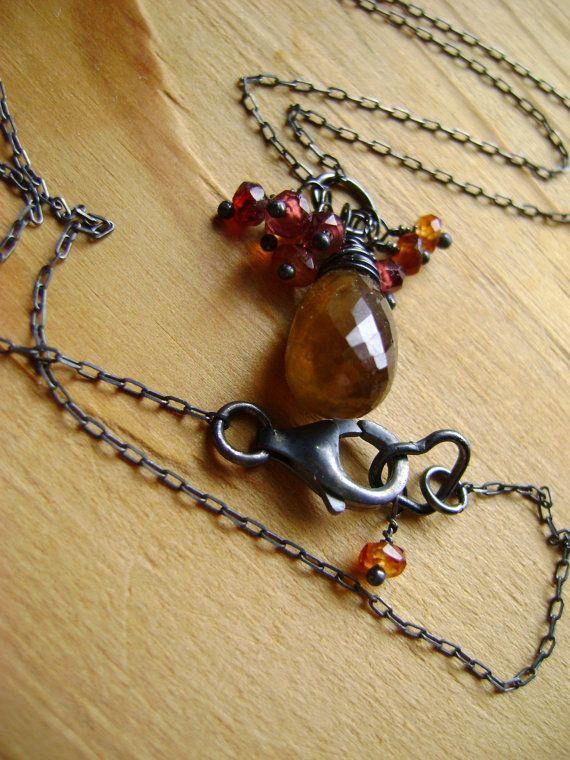 Genuine Deep Olivine Sphene/Titanite Wire Wrapped by Unclehair