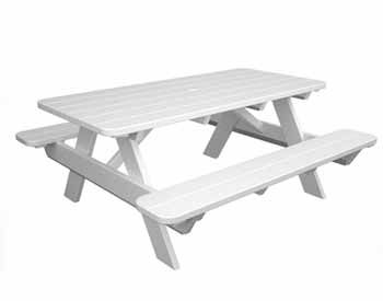 Prime 6 Polywood Picnic Table W Attached Benches Furniture Gamerscity Chair Design For Home Gamerscityorg