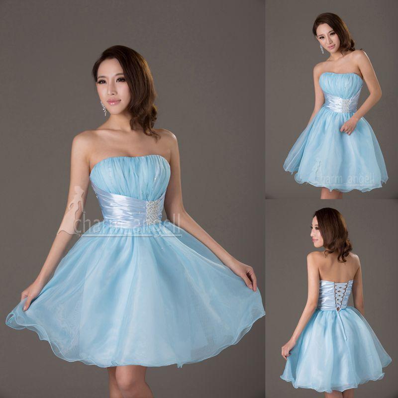 light blue short dress | Damas dresses | Pinterest | Short dresses ...