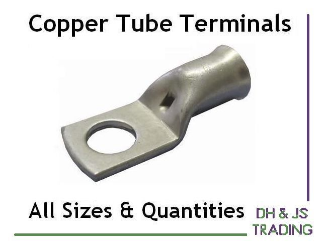 Details About Copper Tube Terminals All Sizes Terminal Battery Welding Cable Lug Ring Crimp Welding Cable Copper Tubing Copper