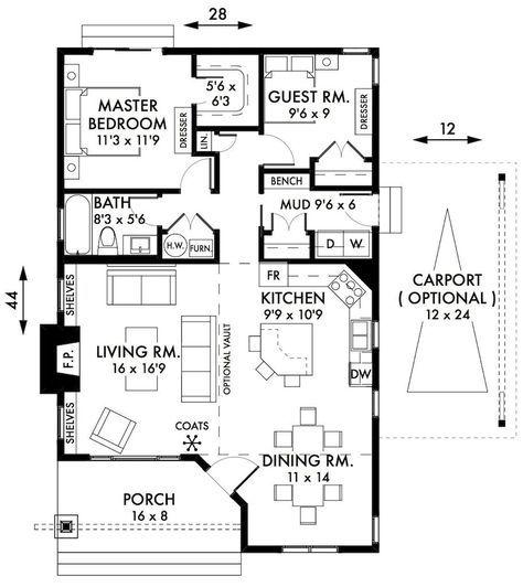 2 Bedroom Cottage Floor Plans Bedroom Cabin Cottage House Plans Floorplan Cottage Floor Plans Two Bedroom House Country House Plans