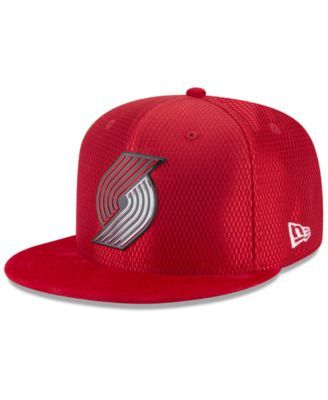 low priced 1dcfe ceed7 New Era Portland Trail Blazers On Court Reverse 9FIFTY Snapback Cap - Red  Adjustable