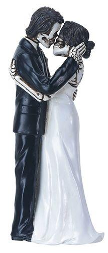 Day of the Dead Skulls Groom Kissing Bride Wedding Cake Topper ...