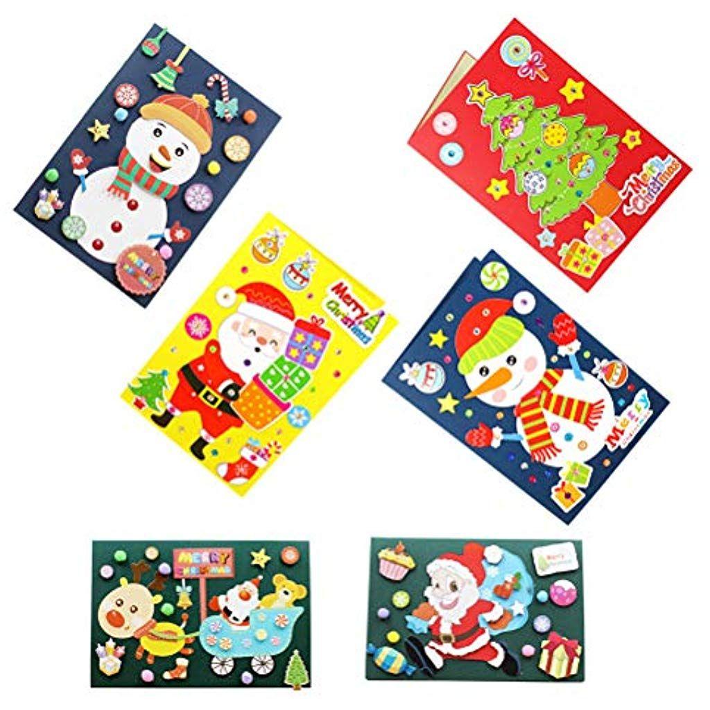 Regali Di Natale Per Bambini Asilo.Stobok 6pcs Regali Di Natale Di Auguri Di Natale Fai Da Te Per