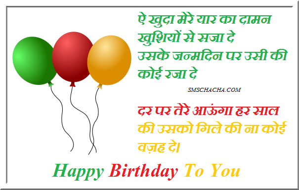 Happy Birthday SMS in Hindi Birthday Hindi SMS – Birthday Greetings in Hindi