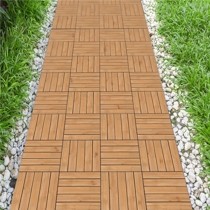 12 X 12 Patio Pavers Interlocking Wood Flooring Tiles Indoor Outdoor 11 Pcs Walmart Com In 2020 Outdoor Wood Tiles Patio Tiles Patio Flooring