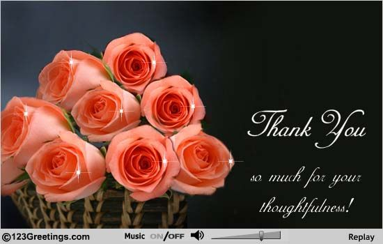 I thank you all for the greetings of good luck and best wishes on my