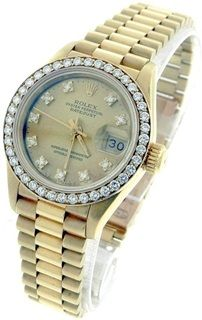 Rolex Datejust Lady 18k Yellow Gold Watch