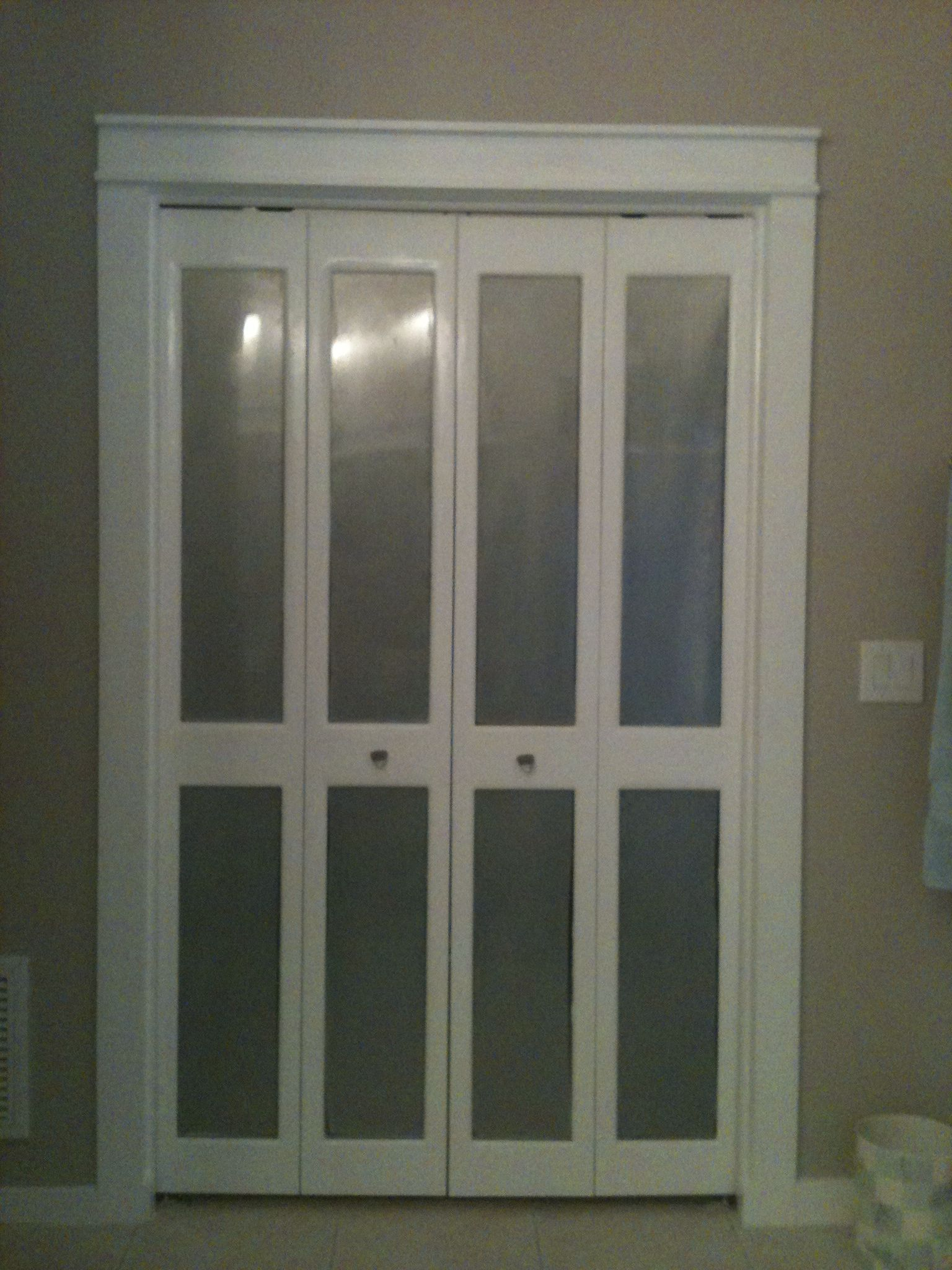 This Was Louvre Bifold Closet Doors  Now They Are