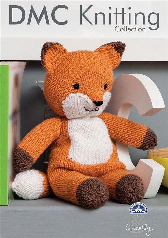 DMC Knitting Collection Pattern , Fox Soft Toy, Toy knitting pattern ...