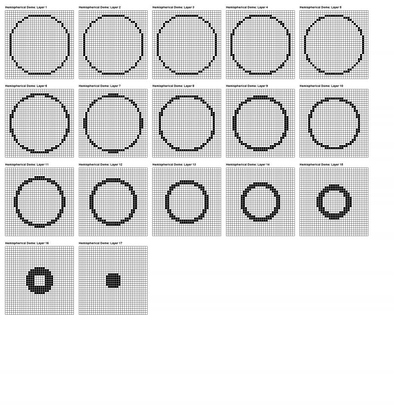 make circles in minecraft