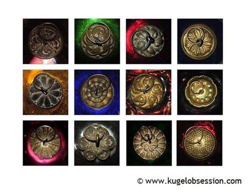 Antique Kugel Christmas Ornament Authentic Cap Designs Kugel