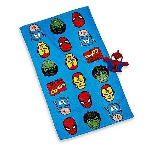 Disney Marvel Heroes Super Heroes Bath Towel And Wash Mitt Set U003eu003eu003e Learn  More