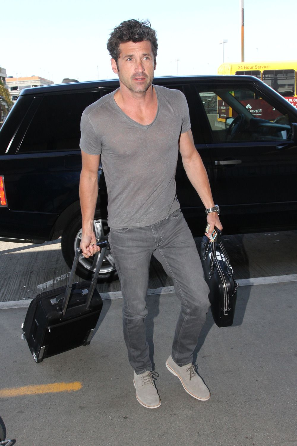 Hottest Ever Patrick Dempsey Wears Tight Shirt For Photo Shoot With