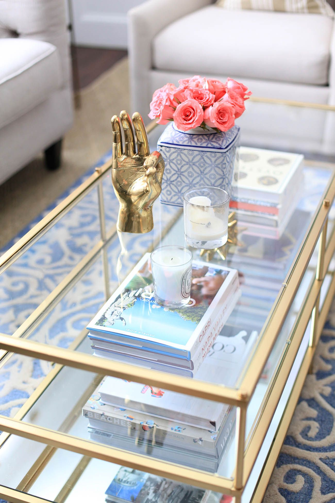 living room refresh with birch lane | happy colors, coffee and glass
