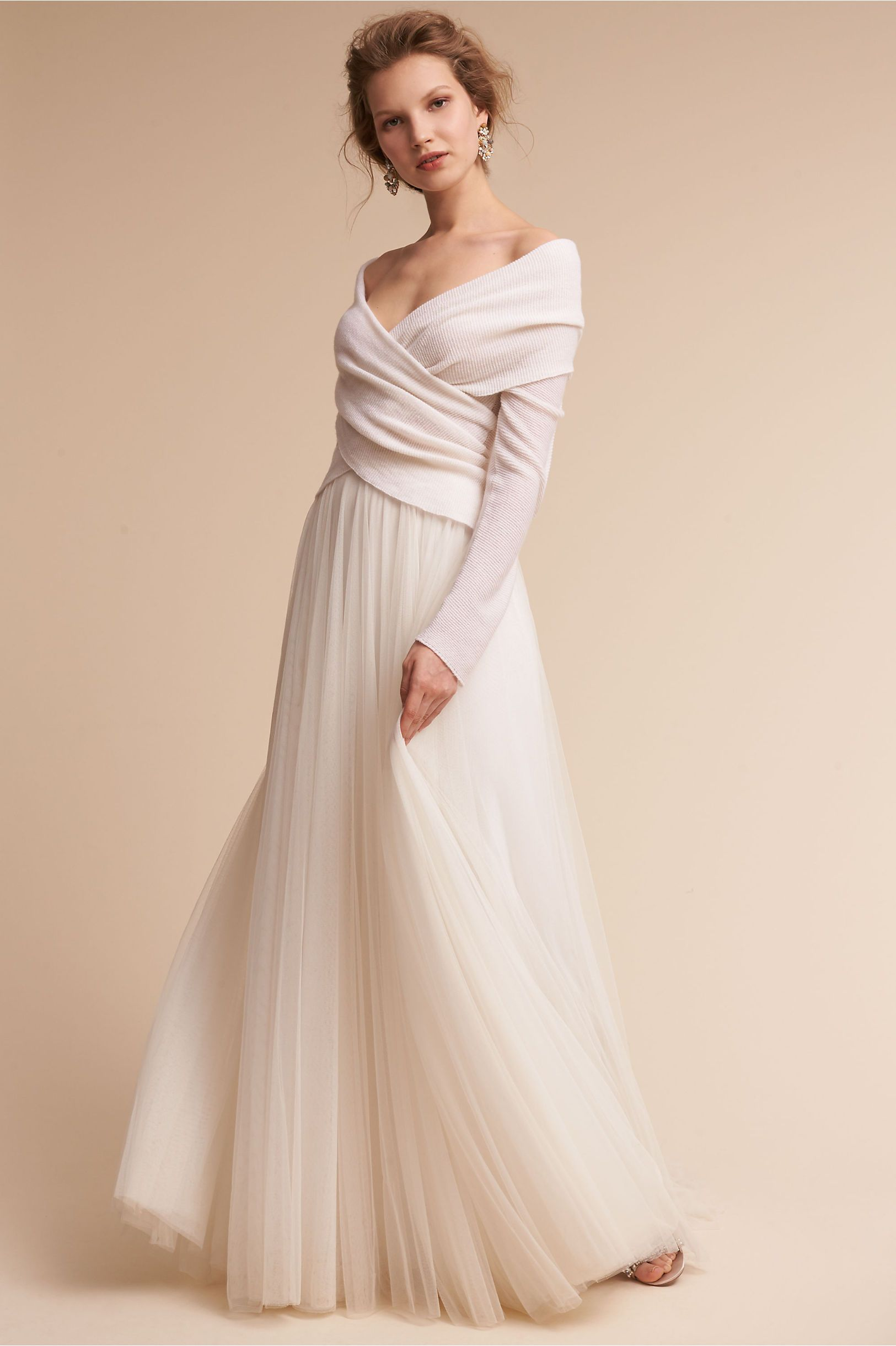 Bhldn ivory ethereal sweater in shoes u accessories bhldn dress