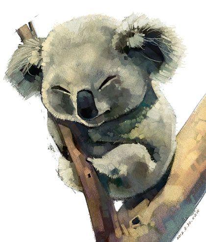 可爱的小动物们 雪娃娃的童畫 Koala Drawing Animal Drawings