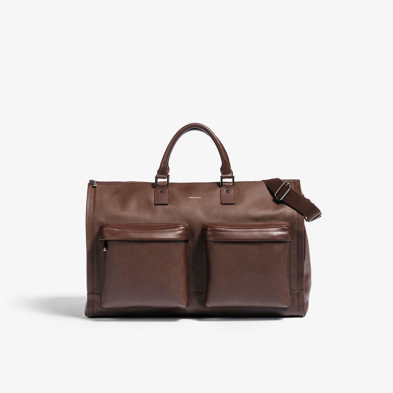 Floto Roma Travel Bag Saddle Brown Large Italian Leather Weekender Duffle 4046ROMA