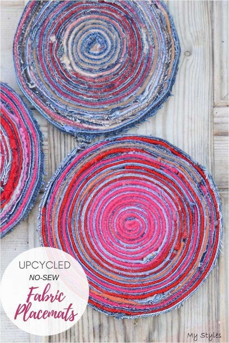 How To Make No-Sew Upcycled Fabric Placemats #Tatting