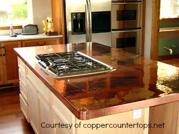 Copper Kitchen Countertops Are One Of The Choices You Have For A Metal Countertop These Typically Custom Crafted Onsite