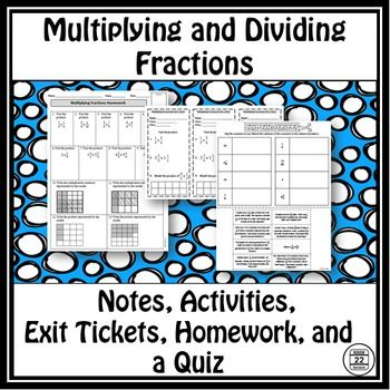 Multiplying and dividing fractions notes and activities dividing multiplying and dividing fractions notes and activities ccuart Gallery