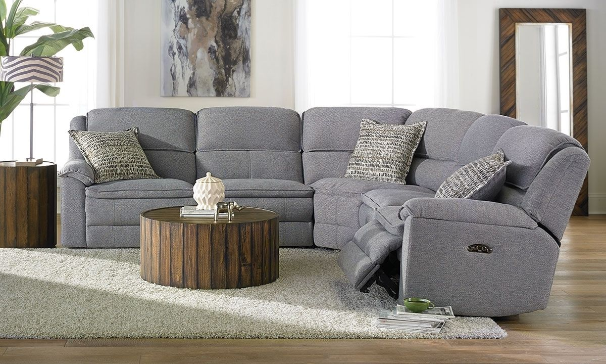 Triple Power Reclining Sectional With Power Headrest Usb