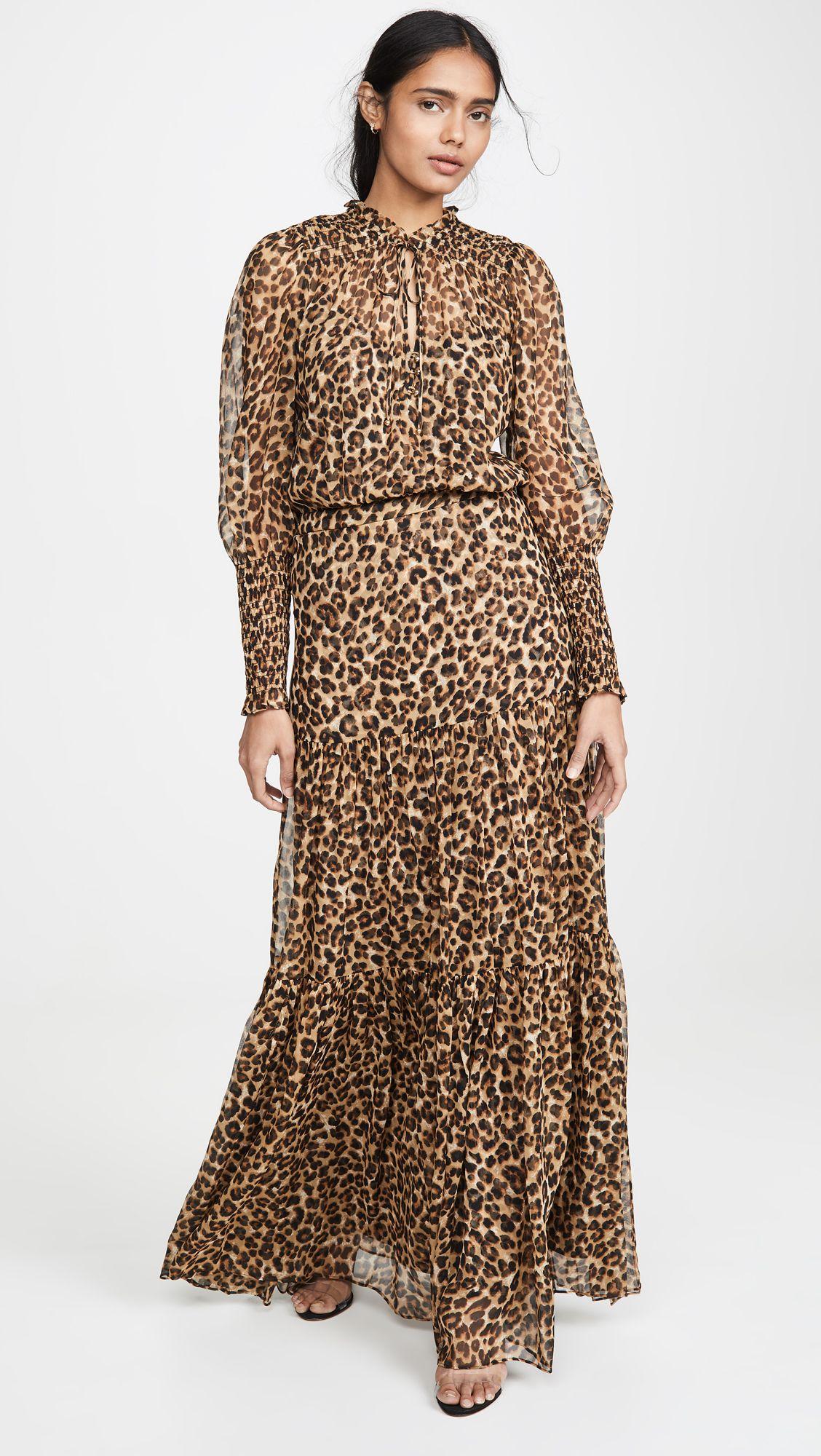 Leopard Print Ruffle Maxi Dress Dresses Ruffled Maxi Dress Skirt Fashion [ 2000 x 1128 Pixel ]