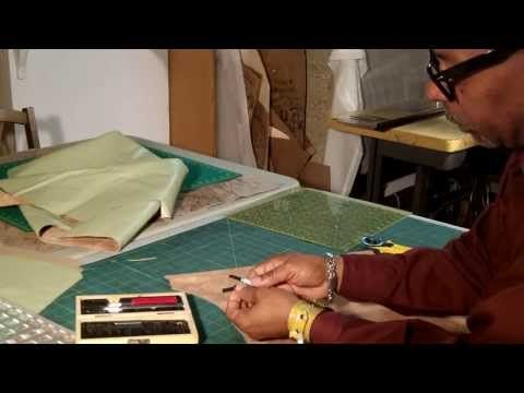 762cb6fe6324 How To make A Leather Tote Bag With A Fabric Lining Part 2 - YouTube ...