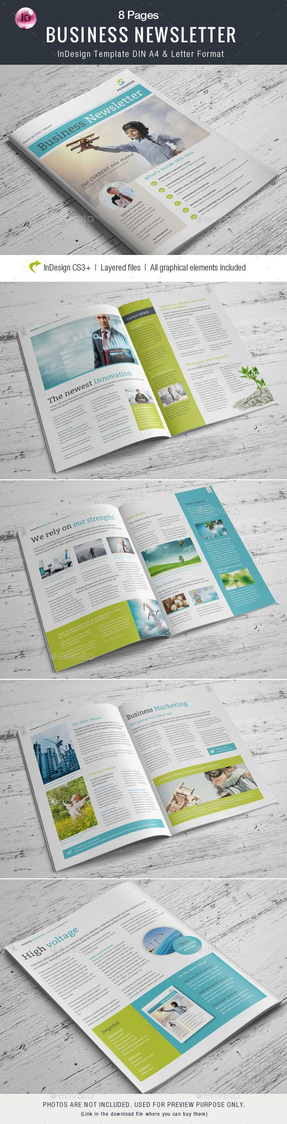 business newsletter 8 pages newsletters print templates download