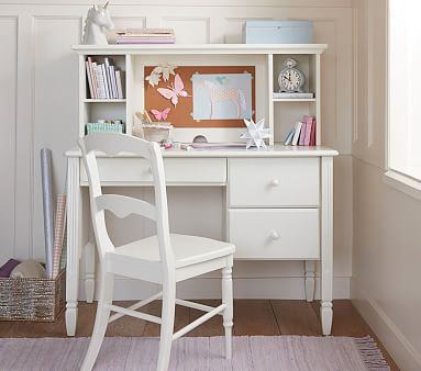 Madeline Storage Desk Simply White In Home Abby S Room